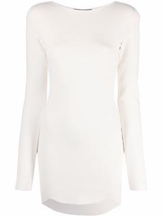 Dsquared2 трикотажное платье с фестонами