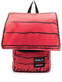 Eastpak полосатый рюкзак с нашивкой-логотипом