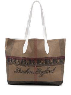 Burberry Pre-Owned сумка-тоут с логотипом
