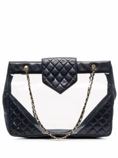 Chanel Pre-Owned стеганая пляжная сумка 2004-го года