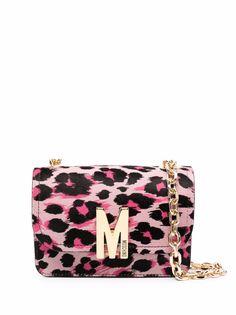 Moschino сумка через плечо с леопардовым принтом