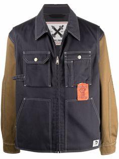 Diesel джинсовая куртка J-Howe-LS со вставками