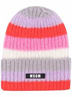 MSGM шапка бини в полоску