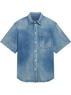 Balenciaga джинсовая рубашка с короткими рукавами