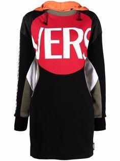 Versace платье-джемпер со вставками