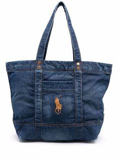 Polo Ralph Lauren джинсовая сумка-тоут с вышитым логотипом