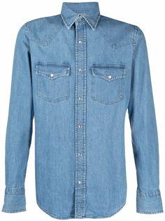 TOM FORD джинсовая рубашка с нагрудными карманами