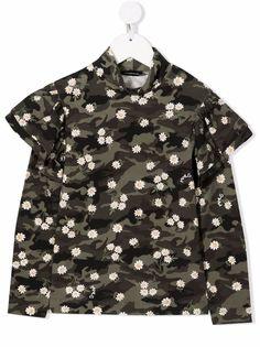 Monnalisa футболка с камуфляжным принтом