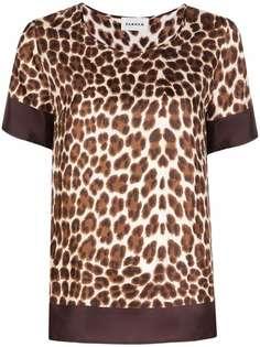 P.A.R.O.S.H. футболка с леопардовым принтом