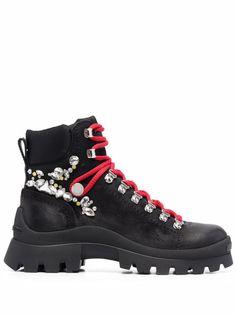 Dsquared2 ботинки в стиле милитари со стразами