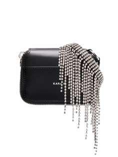 Kara мини-сумка с бахромой из кристаллов