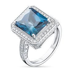 Кольцо из золота с топазом и бриллиантами э0943кц05210486 ЭПЛ Якутские Бриллианты