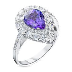 Кольцо из золота с бриллиантами и танзанитом э0942кц06200451 ЭПЛ Якутские Бриллианты