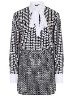 Платье шелковое с принтом Valentino