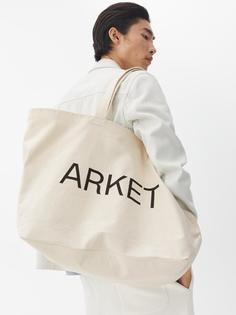 Arket - Холщовая сумка ARKET большого размера для мужчин - Белый - Размер ONESIZE
