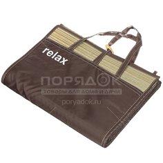 Коврик-сумка пляжный соломенный FM-23 с ремнем и пуговицами, 180х90 см