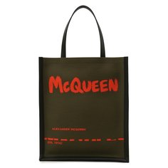 Текстильная сумка-шопер Alexander McQueen