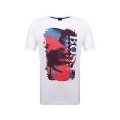 Хлопковая футболка BOSS