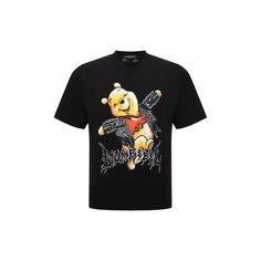 Хлопковая футболка DOMREBEL