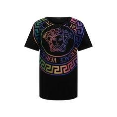 Хлопковая футболка Versace