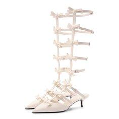 Кожаные туфли French Bows Valentino