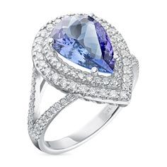 Кольцо из золота с танзанитом и бриллиантами э0942кц06210422 ЭПЛ Якутские Бриллианты