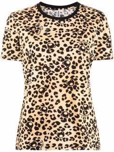 Moschino футболка с леопардовым принтом