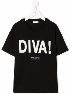 Dolce & Gabbana Kids футболка с нашивкой