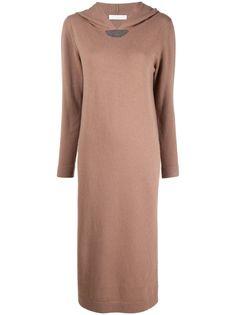 Fabiana Filippi платье-джемпер миди с капюшоном