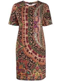 ETRO платье-футболка с принтом пейсли