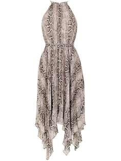 Michael Michael Kors платье миди Super со змеиным принтом