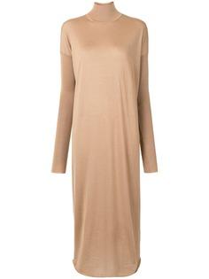 Jil Sander кашемировое платье с воротником-воронкой