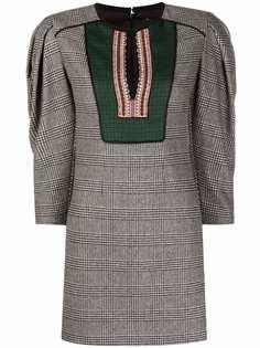 ETRO платье с вышивкой