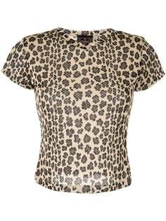 Fendi Pre-Owned футболка с леопардовым принтом и перфорацией