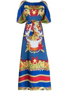 Versace шелковое пляжное платье с принтом Barocco
