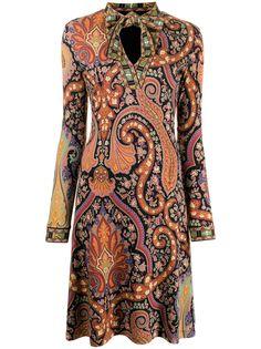 ETRO платье из джерси с принтом пейсли