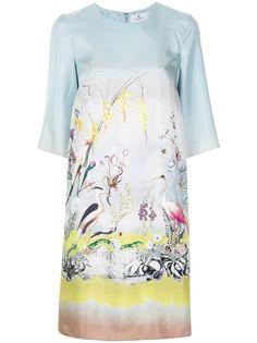 ETRO платье с принтом Heron