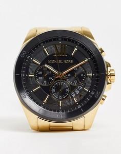 Золотистые часы-браслет Michael Kors Mens Brecken MK8848-Золотистый