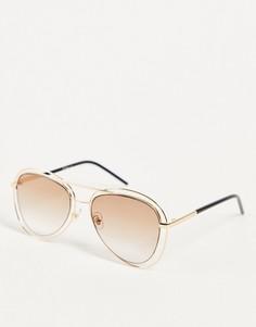 Солнцезащитные очки-авиаторы Jeepers Peepers-Золотистый