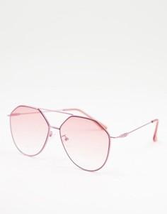Розовые солнцезащитные очки с изогнутой оправой Jeepers Peepers-Розовый цвет