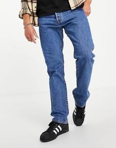 Прямые джинсы до щиколотки выбеленного синего оттенка Levis 501 93-Голубой