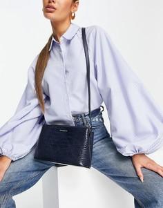 Темно-синяя сумка через плечо с отделкой под крокодиловую кожу Fiorelli Bethnal-Темно-синий