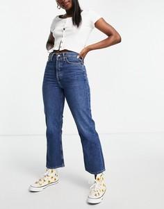 Голубые джинсы с легким клешем Topshop Dree-Голубой