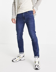 Синие выбеленные зауженные джинсы Levis 510-Голубой