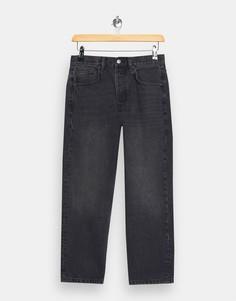 Черные прямые джинсы Topshop-Черный цвет