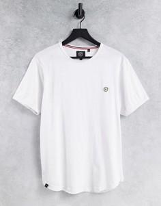 Длинная белая футболка с необработанными краями Le Breve-Белый