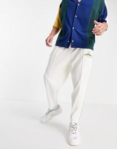 Кремовые махровые джоггеры в стиле oversized с вышивкой от комплекта ASOS DESIGN-Светло-бежевый цвет