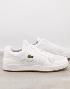 Белые кроссовки Lacoste T-clip-Белый