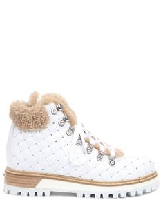 Ботинки кожаные с мехом Le Silla