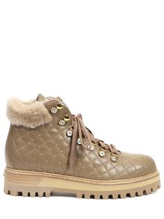 Ботинки кожаные на меху Le Silla